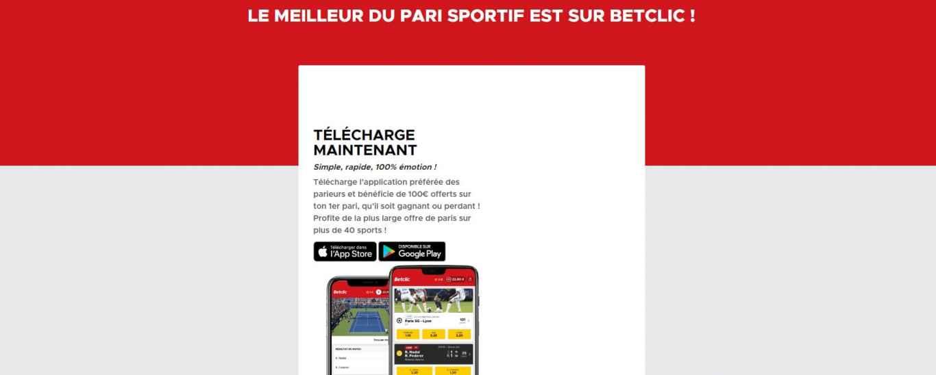Appli Betclic Android