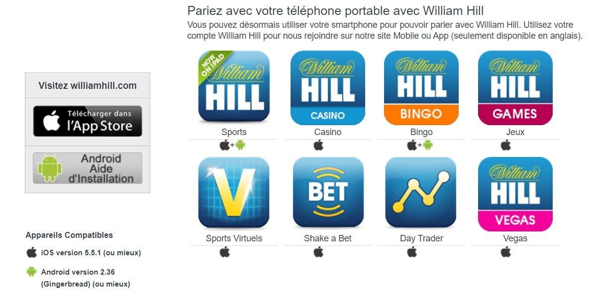 William hill apk - pariez avec votre smartphone